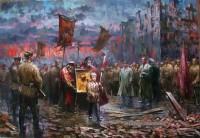 Благословение Советских войск иконой Казанской Божьей Матери в Сталинграде в 1942 году. Художник Андрей Лысенко